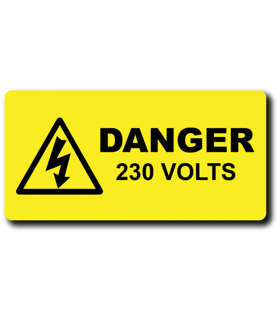 Danger Voltage engraved label