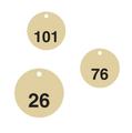 Standardised 38mm diameter Brass Valve Tags Pack of 25