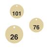 Standardised 27mm diameter Brass Valve Tags Pack of 25