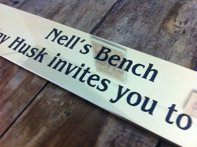 Brass Bench plaque