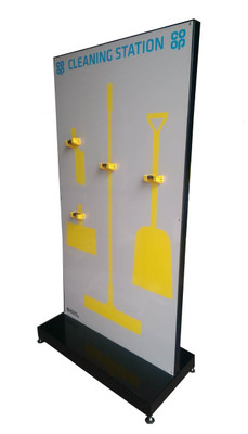 Tool shadow board  on free standing frame
