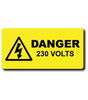 Electrical safety labels engraved
