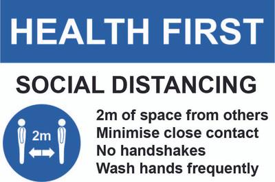 Heath First Safety Sign