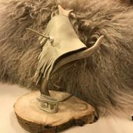 Paris Montana®  original custom Buckskin Fringe Leather & Freshwater Pearl Wrist Cuff