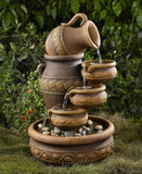"25"" Pouring Jug & Cascading Bowls Fountain GRN314"