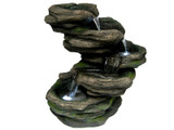 5 Tier Cascading Rock Waterfall Fountain w/ LED Lights