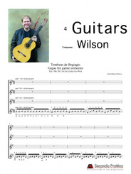 Gigue for Guitar Orchestra from Tombeau de Bogiagis by Wilson