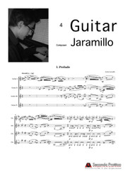Three Dances for Guitar Quartet  by Jaramillo