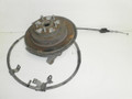 1995-1999 Subaru Legacy Outback Left Rear Disc Brake Spindle Knuckle Hub Assembly W/ E Emergency Cable 28411 AA010