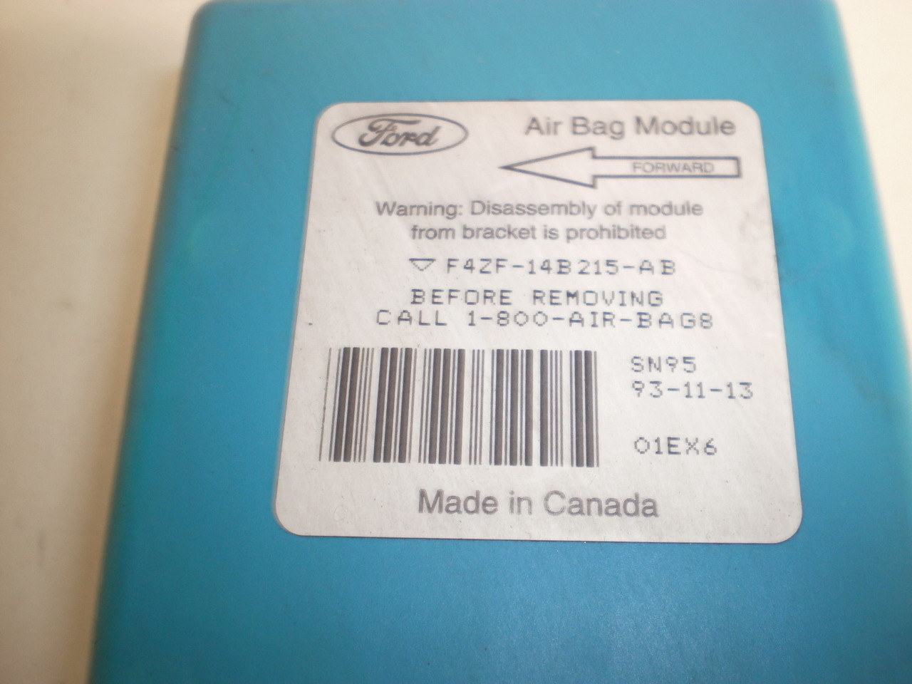 1994 1998 Ford Mustang Srs Air Bag Airbag Control Module