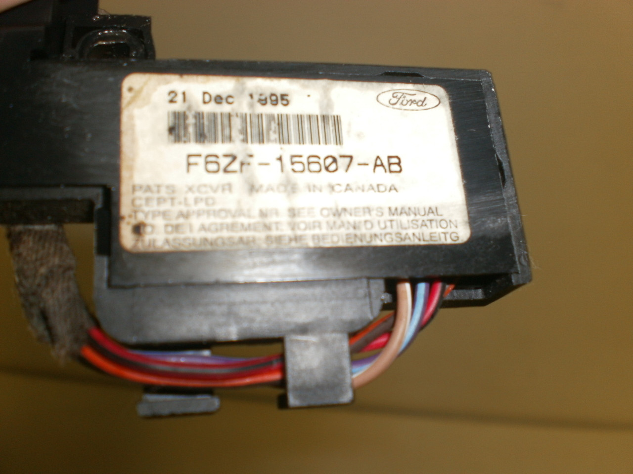1997 Ford Pats Transceiver Mustang Theft