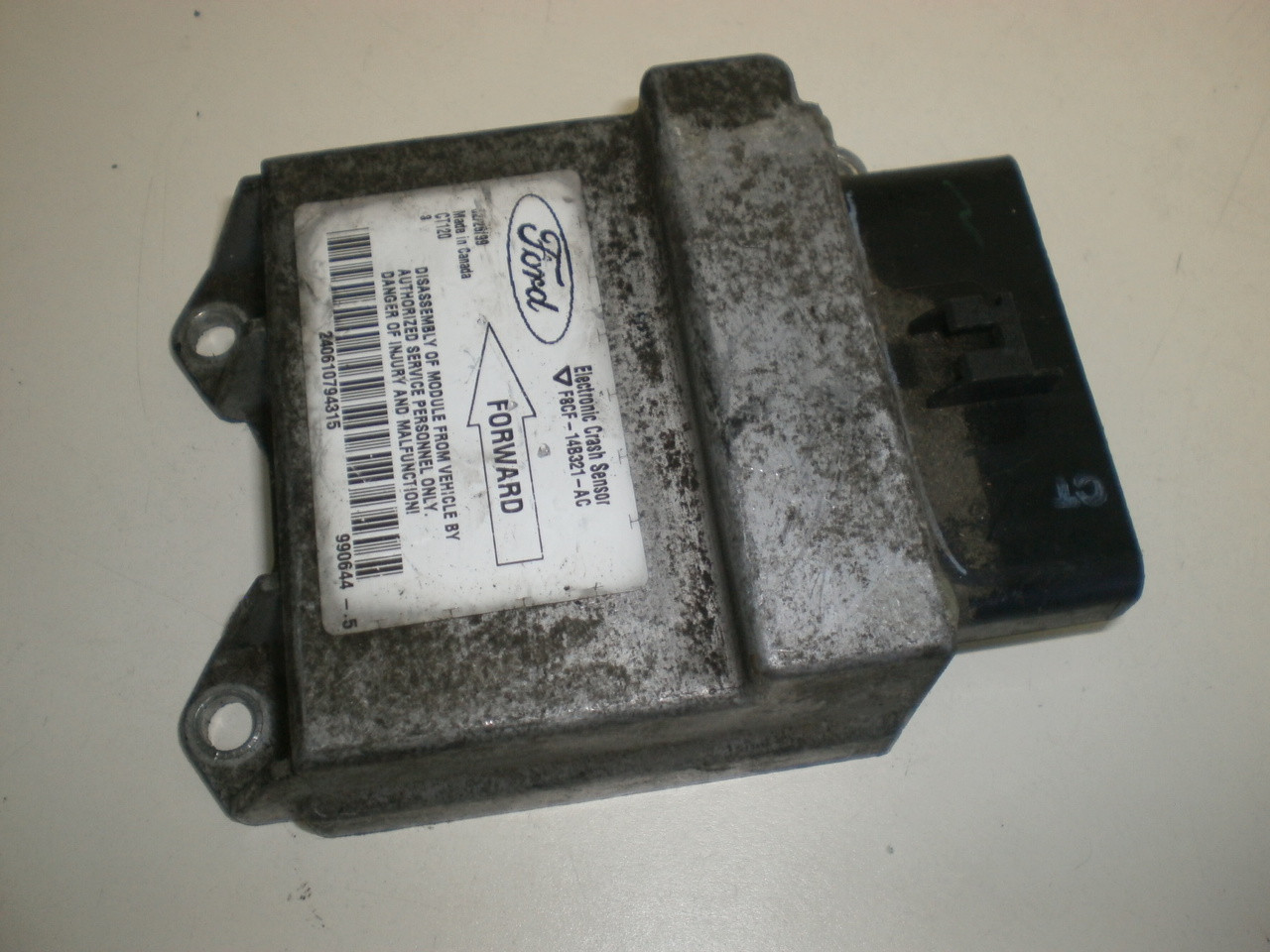 1997-2002 Ford Escort Airbag Air Bag Crash Sensor Electronic Control Module  F8CF-14B321-AC