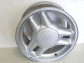 1994-2004 Ford Mustang 94-95 Split Tri Bars 1993 Cobra  Aluminum Wheel 17x8 inch Silver GT F4ZC-1007-FA F4ZZ-1007-B (1) One Wheel With Center Cap