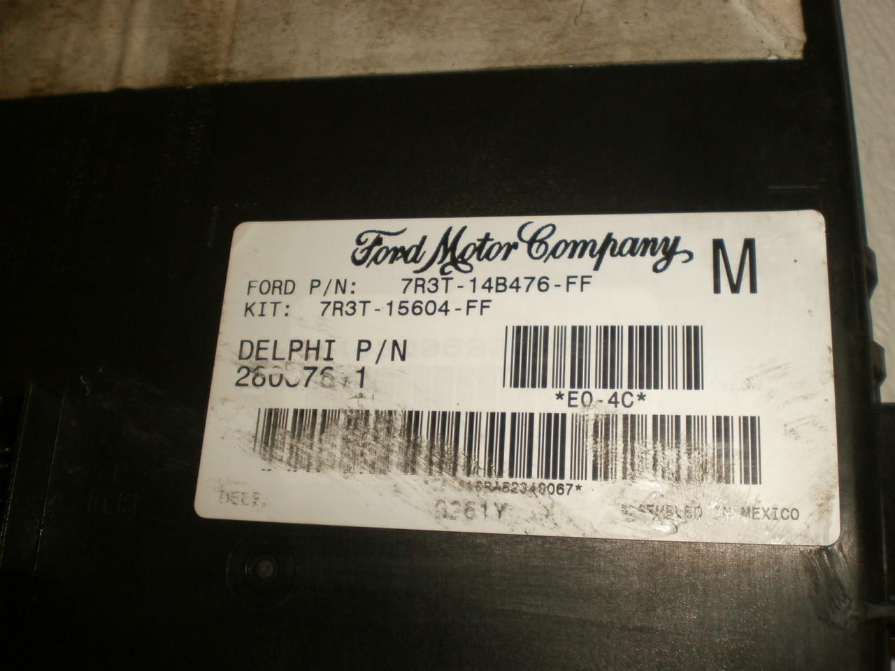 2005-2009 Ford Mustang Body Control Module Multifunction GEM Computer Brain  7R3T-14B476-FF 7R3T-15604-FF