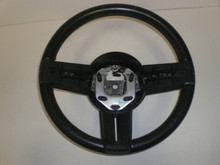 2005-2009 Ford Mustang Black Steering Wheel W/ Cruise Control Switches Leather Wrap 5R3Z-3600-CA
