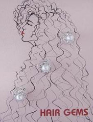 Hair Gems Crystal Pearl #HG251 - Original Price $9.50
