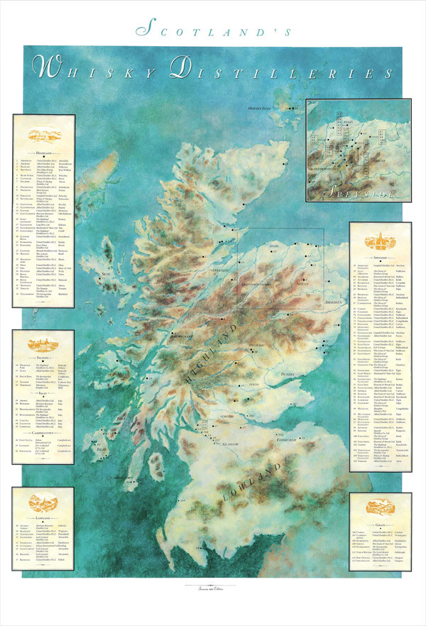 The 1960 Distillery Map of Scotland Scotland Distilleries Map on scotland castles map, scotland lochs map, scotland golf map, scotland hostels map, scotland agriculture map, scotland airports map, scotland attractions map, scotland whisky regions map, scotland mountains map, scotland ferries map,