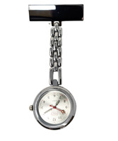 Chrome Pin On Lapel Watch