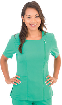 Shown in Emerald. Model is wearing size XSmall.
