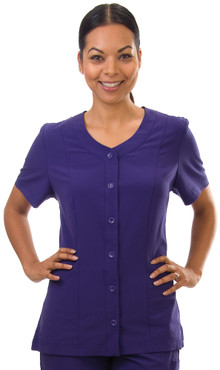 Model is wearing size Small. Shown in Grape.