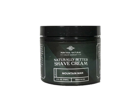 Mountain Man Shave Cream for a Naturally Better Shave Experience!