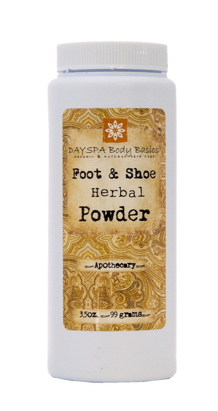 Herbal Foot Powder = Best talc-free formula that quickly absorbs excess moisture from skin