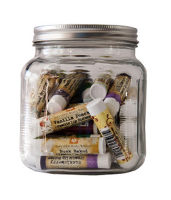 Jar of Lip Balms - 35 mixed variety