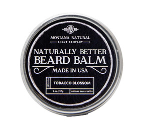 Small Batch Tobacco Blossom Beard Balm Naturally Better - Montana Natural Shave Company