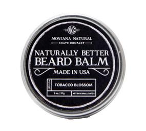 Small Batch Tobacco Blossom Beard Balm Naturally Better - Montana Natural Shave Company