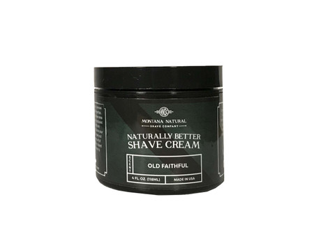 Montana Natural Shave Company | Old Faithful Shave Cream for a Naturally Better Shave Experience!