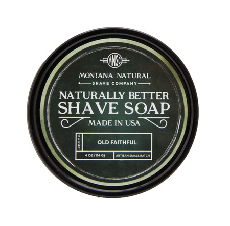 Old Faithful Artisian Small Batch Shave Soap for a Naturally Better Shave Experience