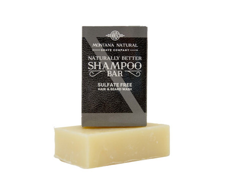 Lavender Lime Travel Friendly Solid Shampoo and Beard Wash - Montana Natural Shave Company