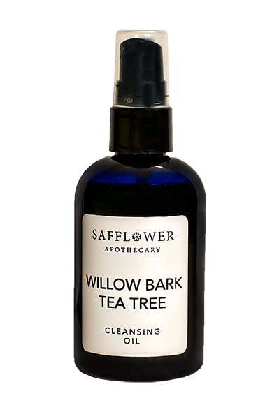 Willow Bark Tea Tree  Cleansing  & Facial Massage Oil Safflower Apothecary