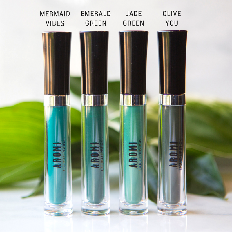 Green Liquid Lipstick Bundle - Aromi