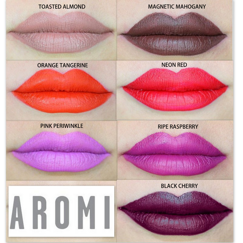 Aromi Liquid Lipstick Shades - Fall/Winter 2014 Collection