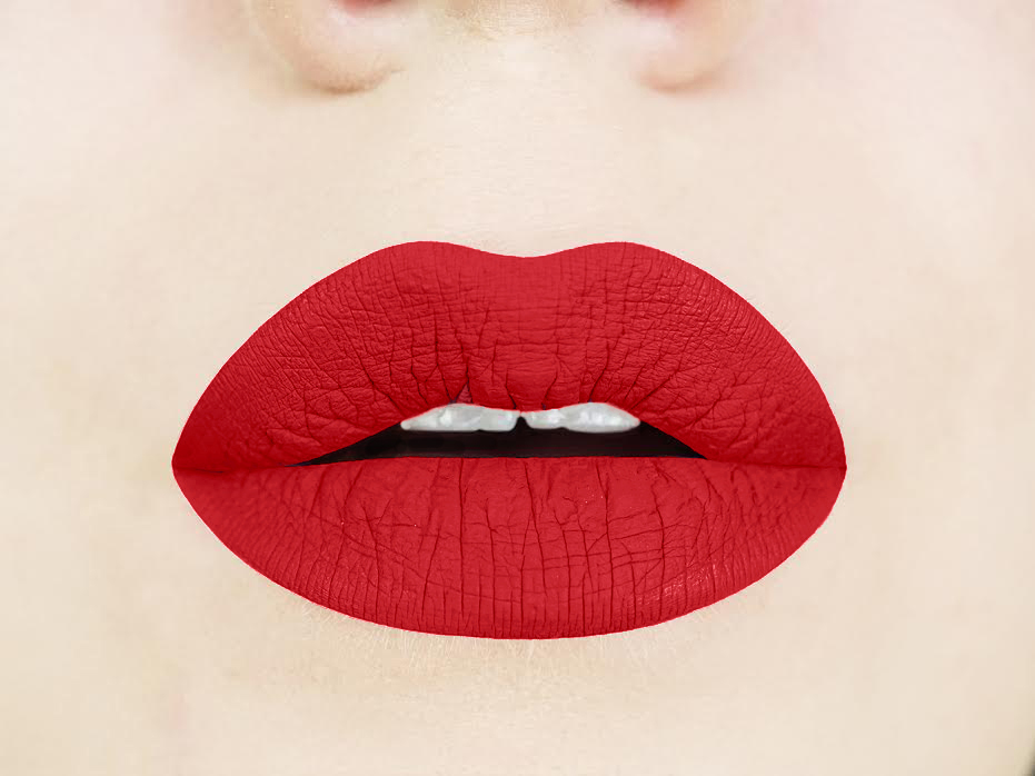Aromi flamenco red liquid lipstick