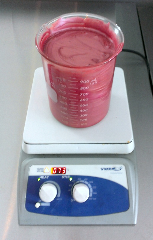 snob lip gloss being mixed in the Aromi laboratory