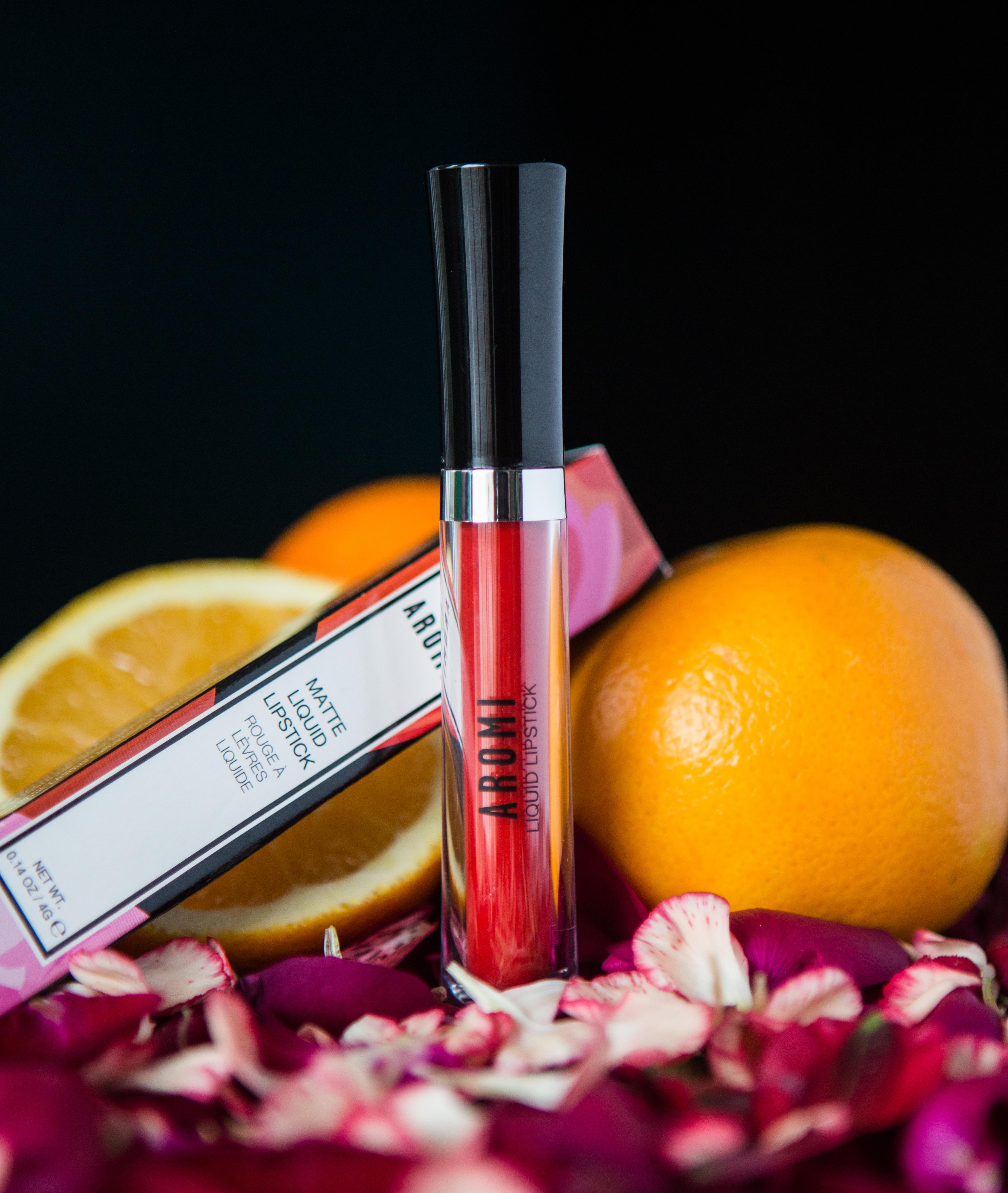 Aromi Orange Tangerine Matte Liquid Lipstick