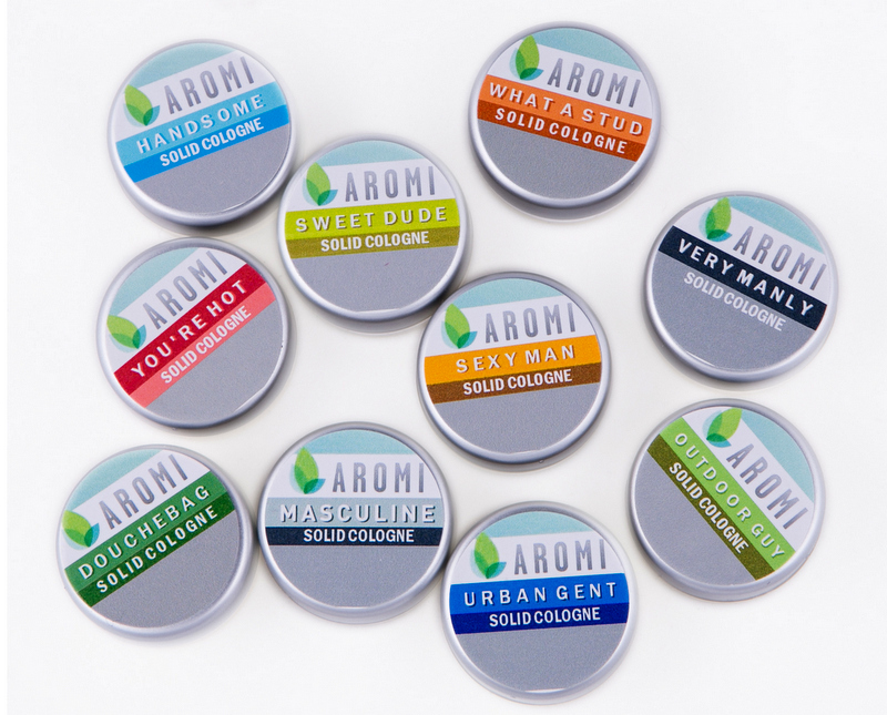 Aromi solid cologne samples