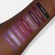purple liquid lipstick swatches