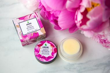 earthy botanical solid perfume vegan + cruelty free