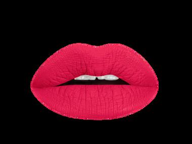 neon red liquid lipstick