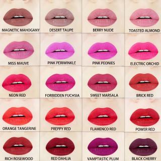 liquid lipstick swatches