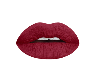 red dahlia liquid lipstick swatch |