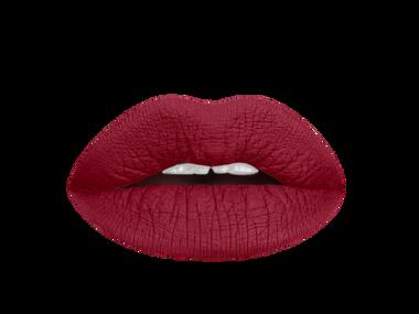red dahlia liquid lipstick swatch |