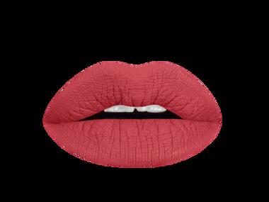 brick red liquid lipstick swatch
