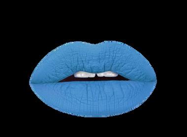 azure blue lipstick