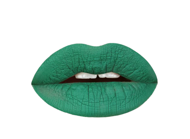 Aromi emerald green liquid lipstick