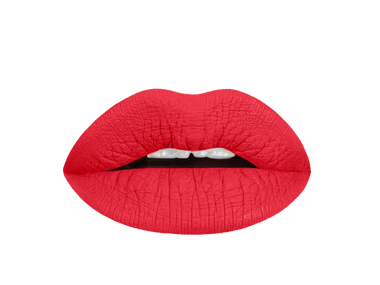 cherry red lip swatch