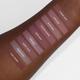 aromi liquid lipstick swatches on darker skin